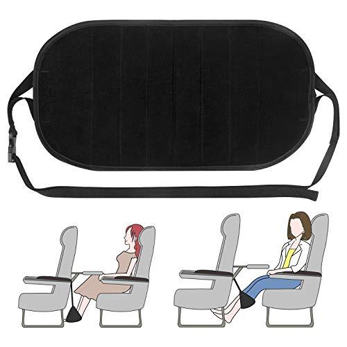 Foot Rest Airplane Travel Footrests Hammock, 2PCS Under Desk Footrest for Office (Black) by Petutu