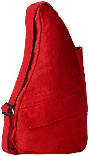 AmeriBag X-Small Distressed Nylon Healthy Back Bag Tote, Crimson