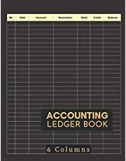 Accounting Ledger Book: Large Simple Accounting Ledger for Bookkeeping and Small Business Income Expense Account Recorder & Tracker logbook | 6 Columns: 120 Pages | High Quality Matte Finish Black Cover