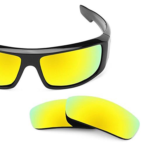 Revant Polarized Replacement Lenses for Spy Optic Logan Bolt Gold MirrorShield