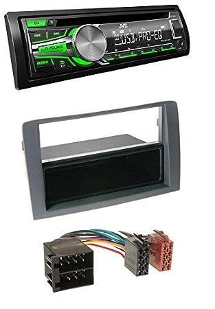 Jvc Cd Mp3 Usb Aux Car Radio For Fiat Idea Grey Amazon