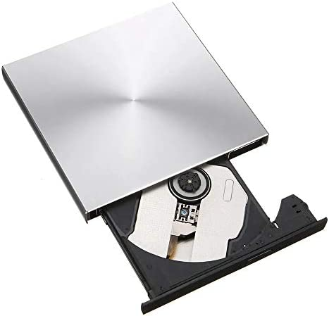 外付け光学ドライブ 外部レコーダー光学ドライブUSB 3.0ポップアップDVD-RW/CD-RWバーナー 高速 静音 超スリム (Color : Gray, Size : One size)