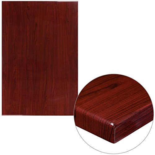 45' Rectangular Table Top (MFO 30'' x 45'' Rectangular Resin Mahogany Table Top)