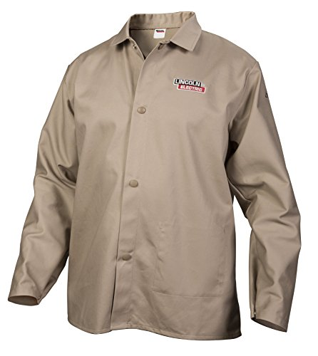 Lincoln Electric Khaki X-Large Flame Retardant Cloth Welding Shirt (Fire Retardant Cloth compare prices)