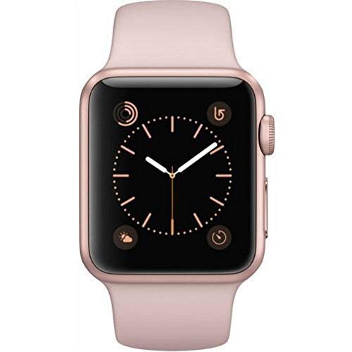 Apple Watch Series 1 38mm Smartwatch (Rose Gold Aluminum Case, Pink Sand Sport Band)