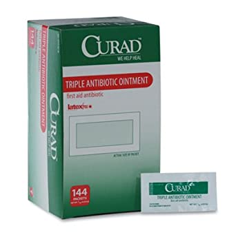 Amazon com: Curad Triple Antibiotic Ointment - Single Use