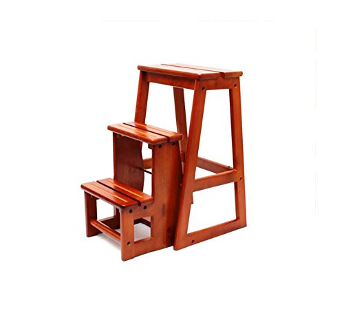 All solid wood three staircase stool / staircase stool / folding ladder chair / multi-functional home ladder by Xin-stool