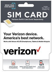 Verizon Complete Starter Pack: Nano SIM Card KIT with Standard & Micro Adapters