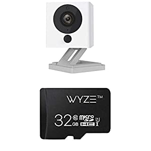 Wyze Cam 1080p HD Indoor Wireless Smart Home Camera with Night Vision, 2-Way Audio (Pack of 2) & SanDisk Ultra 64GB microSDXC UHS-I card with Adapter -  100MB/s U1 A1 - SDSQUAR-064G-GN6MA 1