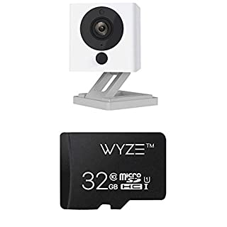Wyze Cam v2 1080p HD Wireless Smart Home Camera Night Vision, 2-Way Audio, Free Cloud iOS Android + Wyze Labs Expandable Storage 32GB MicroSDHC Card Class 10 (B07F6D4Y54) | Amazon price tracker / tracking, Amazon price history charts, Amazon price watches, Amazon price drop alerts