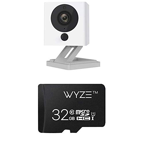 Wyze Cam v2 1080p HD Wireless Smart Home Camera Night Vision, 2-Way Audio, Free Cloud iOS Android + Wyze Labs Expandable Storage 32GB MicroSDHC Card Class 10