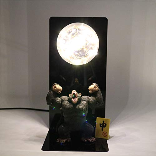 Dragon Ball Son Goku transforms into Great Apes Under The Moon Action Figures Lamp DIY Anime Model | Table Lamp Baby Dolls LED Night Light for Children Kids Toys Lights]()