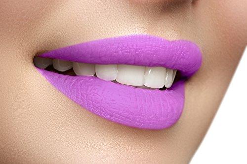 Long Lasting Lipstick Liquid to Matte Velvet Finish Waterproof Kissproof - Violet