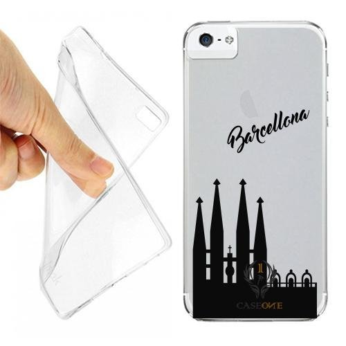 CUSTODIA COVER CASE SAGRADA FAMILIA BARCELLONA PER IPHONE 5S OPACO