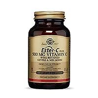 Solgar Ester-C Plus 500 mg Vitamin C (Ascorbate Complex) - Gentle & Non Acidic - Antioxidant & Immune Support - 100 Vegetable Capsules (100 Servings)
