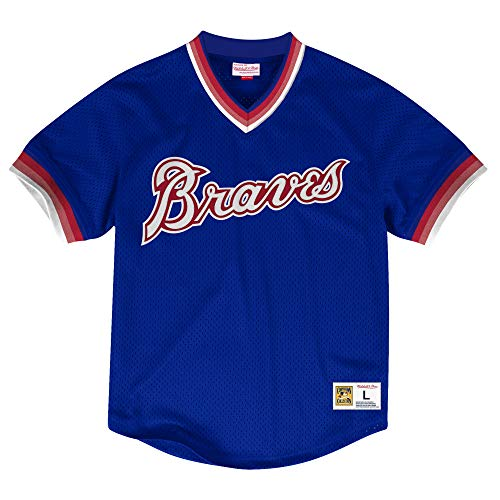 Mitchell & Ness Atlanta Braves MLB Men's Dinger Mesh Jersey Shirt - Royal