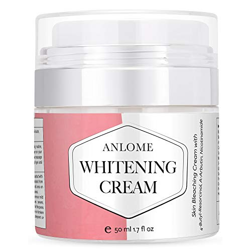 Anlome Whitening Cream, Dark Spot Corrector and Skin Bleaching Cream for Face, Intimate Parts, and Whole Body with 4-Butyl Resorcinol(better than 2% hydroquinone), α-Arbutin, Niacinamide (50ml) ANLOME
