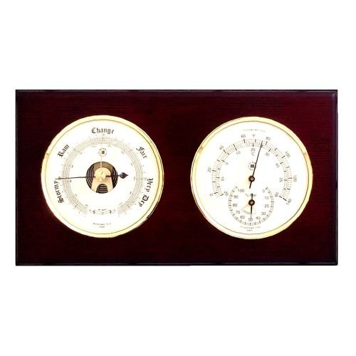 Barometer Thermometer and Hygrometer Color: Mahogany