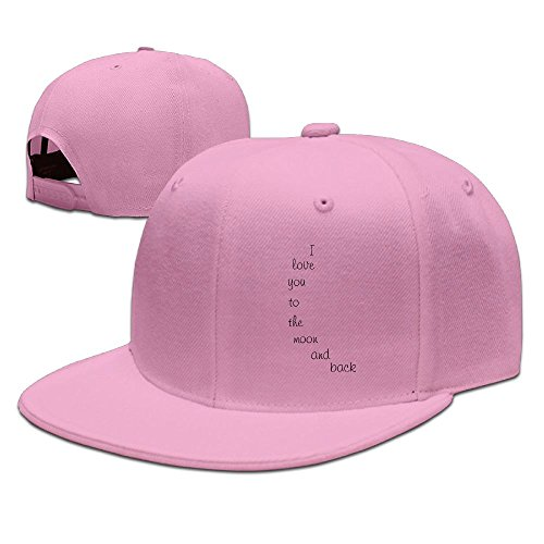 ZhiqianDF Men Yellow Moon Nursery Wall Decal Cool Travel Pink Caps Adjustable Snapback (Steel Cap Mower Lawn Gas)
