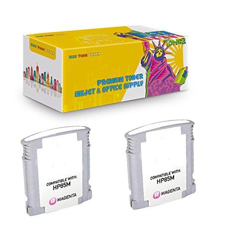 New York TonerTM New Compatible 2 Pack C9429A HP 85 High Yield Inkjet For HP Designjet 30 | 130 . -- Light Magenta