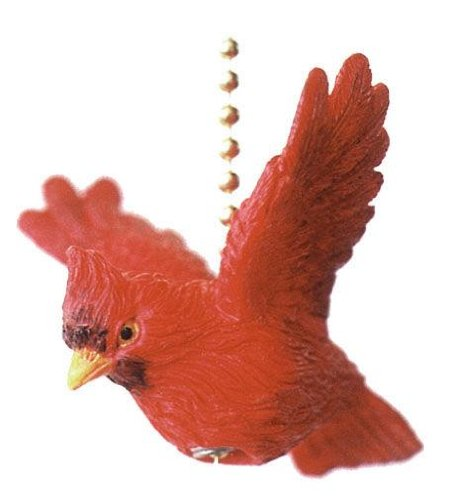 Hummingbird Fan Pull - Red Cardinal Bird Ceiling Fan Light Pull Chain Home Decor