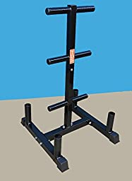 Vertical Olympic Bar and Olympic plate Rack, Heavy duty designed to hold (4) Olympic bars & 500 lb. Olympic plates