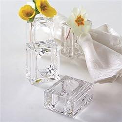 Two's Company Set of 4 Napkin Rings/bud Vase