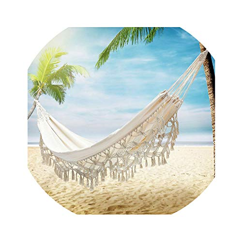 Hammocks Thicken Hammock Chair Swing Outdoor Camping Hammock Sleep Double Garden Kids Room Dormitory Hanging Hammock Chairs Home Cotton (Capacity Hammock 800 Lb)