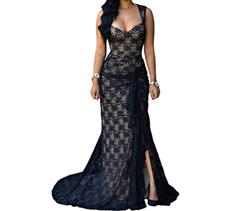 Christmas TomYork Black Lace Nude Illusion Ruched Gown(Size,M) (Party City Locations Nyc)