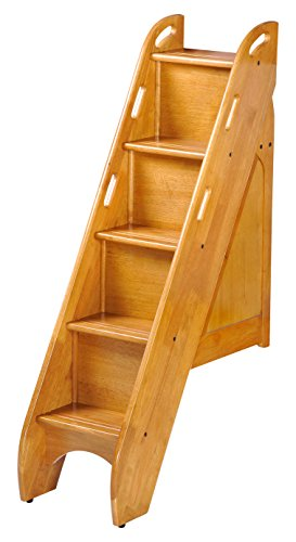 (Night & Day Furniture PBBS-MO Bunk Storage Stairs for use with Cinnamon Twin/Twin & Full/Full only, Medium Oak)