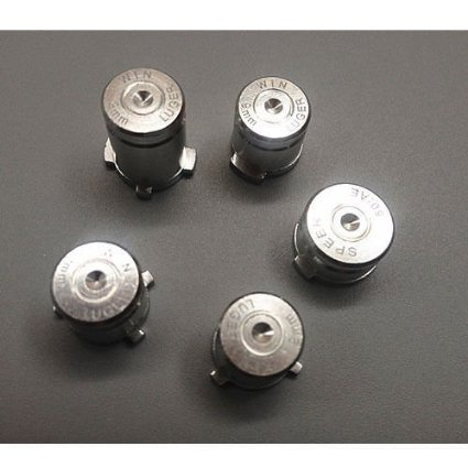 Laixing High Qualität Silver #A1890 Aluminum ABXY&Guide Bullet Buttons fur Xbox 360 Controllers