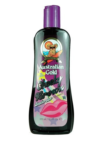 Tanning Bed Lotion Brown (Australian Gold, CHEEKY BROWN Accelerator Dark Natural Bronzers, Tanning Bed Lotion 8.5 oz)