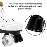 TOBWOLF 4PCS Roller Skate Stoppers with Bolts, PU