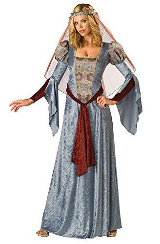 Renaissance Princess Adult Costumes (InCharacter Costumes Women's Maid Marian Costume, Blue/Burgundy/Grey, X-Large)