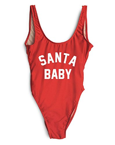 HK One Piece Swimsuit Santa Baby Thong Bikini