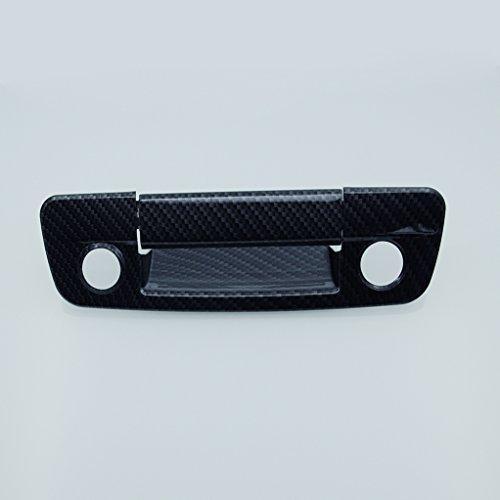 3500 Carbon Fiber (E-Autogrilles 09-16 Dodge Ram 1500 / 10-16 Dodge Ram 2500/3500 Black Carbon Fiber Look ABS Tailgate Handle Cover With Camera Hole & Keyhole)