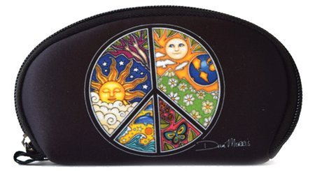 (Peace Sign - Dan Morris, Protective Waterproof Neoprene WALLET for your Cash Coins License ID Card - 6.5
