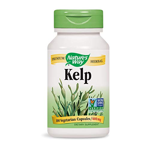 Nature's Way Kelp; 600 mg Non-GMO Project Verified Gluten Free Vegetarian; 100 Count (Packaging May Vary)