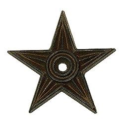 Cast Iron Star - Center Hole Medium Set of 6 - Western Rustic Candle Holder Primitive Decor