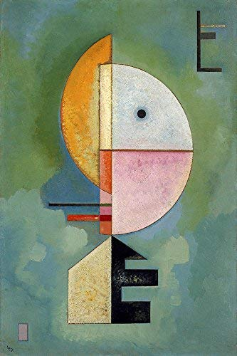 Amazon Com Upward Geometric Shapes Abstract Art Painting By