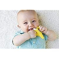 عضاضة اطفال وفرشاة اسنان لتدريب الرضع بنمط موزة