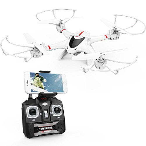 DBPOWER MJX X400W FPV Drone with Wifi Camera Live Video Headless Mode 2.4GHz 4 Chanel 6 Axis Gyro RTF RC Quadcopter, Compatible with 3D VR Headset 41IoVNhrL6L  Store 41IoVNhrL6L