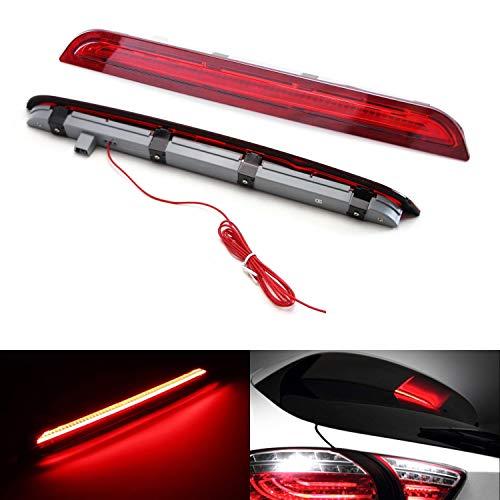 iJDMTOY Red Lens LED 3rd Brake Light Kit For 2013-2016 Mazda CX-5, Rear Center Roof High Mount Assembly, Function as Rear Fog/Running Lamps & Brake Lights