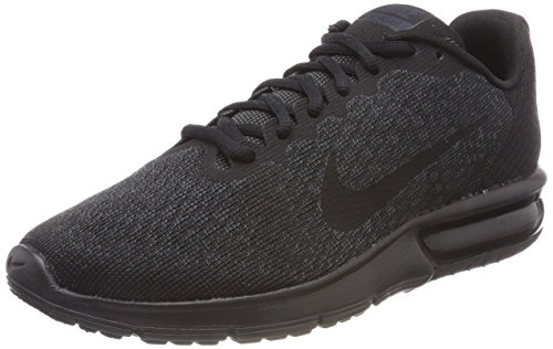 Nike Men's Air Max Sequent 2 Running Shoes, Black Black (Black/Black/Black)
