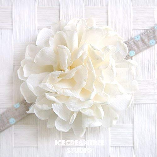 Giant Bloom Collar Slide On, Flower Collar Accessories, Corsage Accessories, Collar Add On - Cream