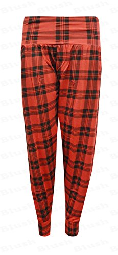 Rojo Tartán Mujer Para Pantalón Biho®® qI6pwRST 3272649666e4