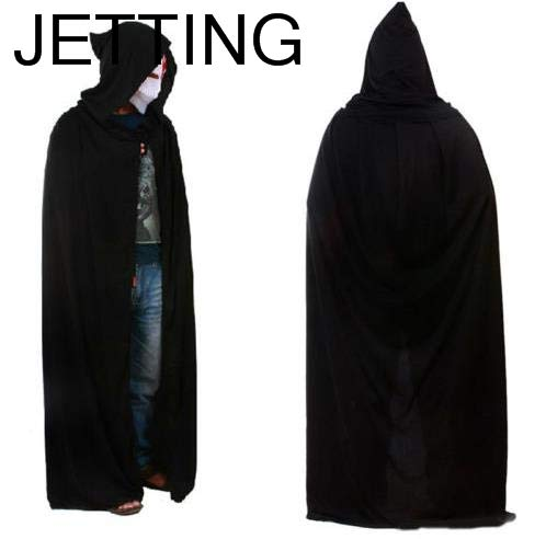 Cape Long - Brand Black Halloween Costume Theater Prop Death Hoody Cloak Devil Long Tippet Cape - Dress Women Evening Long Gown Sleeve Cape Cloak -