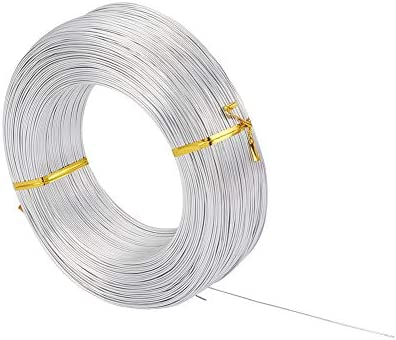 Fashewelry 918 Feet 0.5-0.6mm Aluminum Wire Silver Bendable Metal Craft Wire for Beading Jewelry Craft Making