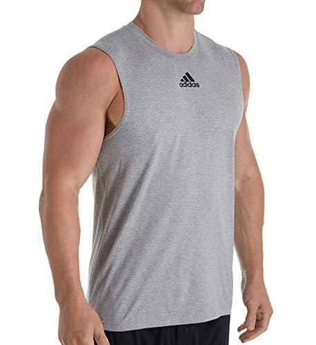 adidas Climalite Regular Fit Sleeveless T-Shirt (EK009) XL/Medium Grey