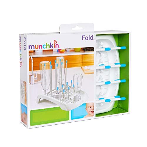 Munchkin Fold Baby Bottle Countertop Drying Rack, Blue